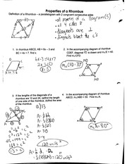 properties of a rhombus notes