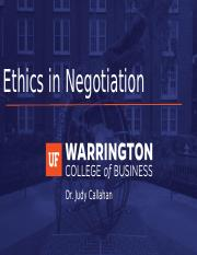 MAN6447 - Ethics in Negotiation