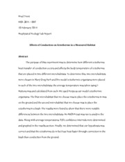 Biol301L - Biophysical Ecology Lab Report (Final Draft)