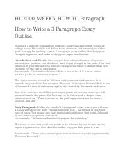 HU2000_Wk5_How to write a paragraph