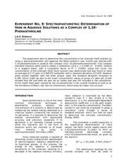 265133665-Expt-9-Spectrophotometric-Determination-of-Iron-in-Aqueous-Solutions-as-a-Complex-of-1-10-