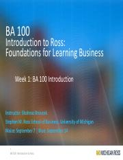 Class 1 - BA 100 Introduction and The Purpose of Your Business Education (2)