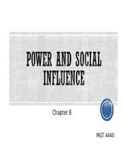 Ch 08 Bb - Power & Social Influence
