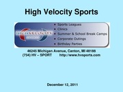 High Velocity Sports Final PP (MKTG 425)