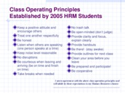Class Operating Principles