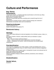 Culture and Performance