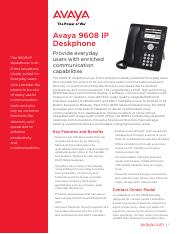 avaya 9608 ip deskphone - fact sheet uc4559.pdf
