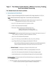 Topic 7B Global financial markets and financing--Global bond and stock markets.docx