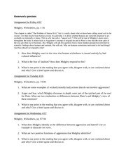 Homework Questions 4-12 to 5-1