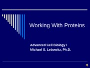 Working with Proteins(1)