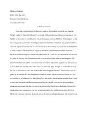 HON Essay #2 - A Better Tomorrow