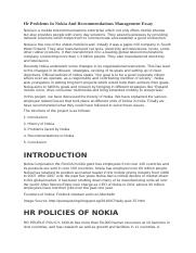 Hr Problems In Nokia And Recommendations Management Essay.odt