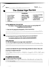 The Global Age Review Worksheet