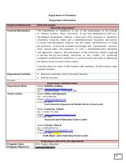 Department of Chemistry information.doc