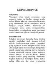 Kajian Literatur Contoh Kajian Literatur Simptom Walaupun