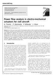 Power flow analysis in electro-mechanical05710091