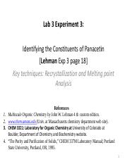 Lab 3-Identification of components of Panacetin-Exp 3(2)