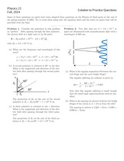 PHYSICS 21 Fall 2014 Practice Final Exam Solutions