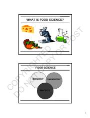 Week 1 - updated what is food science