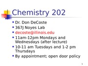 Chem 202 Period Table Lecture