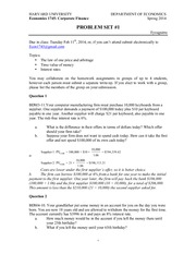 ECON 1745 Spring 2014 Problem Set Answers 1