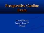 Preoperative Cardiac Exam Final - EMarcus