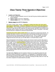 Class Twenty Three Notes