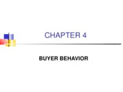 Chapter 4 - Buyer Behavior