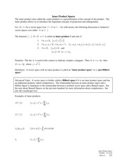 2011-09-21 Inner Product Spaces