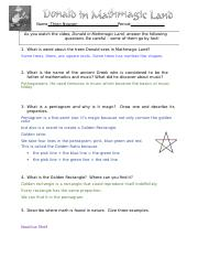 Worksheet No.2 Donald in Mathematic land