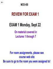 450 F14 Exam 1 review for posting