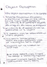 psyc 450 notes on object perception