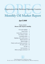 OPEC Monthly Oil Market Report - April 2008