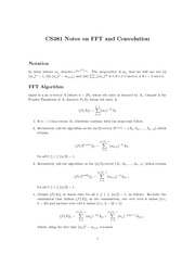 FFT and Convolution