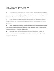 Challenge Project IV Questions