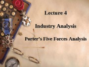 Lecture 4 Industry Analysis