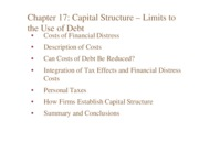 C09.+Chap+17.+Capital+Structure+-+Limits+to+the+use+of+Debt