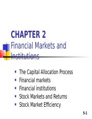 2. Chapter 2 FINANCIAL MARKETS AND INST.ppt