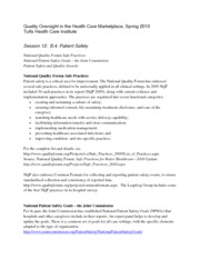 Quality Oversight in Health Care Marketing Notes 12