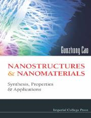 Guozhong Cao-Nanostructures & nanomaterials_ synthesis_ properties & applications-Imperial College P