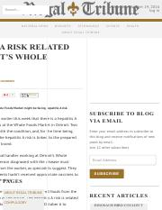 Hepatitis A Risk Related to Detroit's Whole Foods • Regal Tribune.pdf