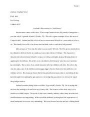 Paper #1 - Writing about Fiction Writing Response (1) .docx