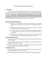 Thesis and Outline for Persuasive Research Essay #2