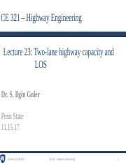 5 - Lecture 23 - Two-lane highway capacity and LOS.pdf