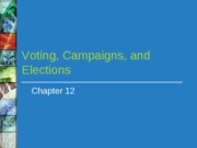 Voting, Campaigns, Elections