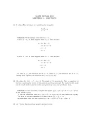 Math 32 Fall 2012 Midterm 1 Solutions