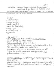 BBG E101 NOTES HUMAN RESOURCES JOB ANALYSIS