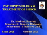 Lecture30_Pathophysiology and Treatment of Shock