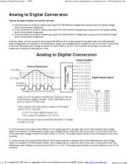 "Analog to Digital Conversion â€"" WSU"