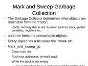 Mark and Sweep Garbage Collection